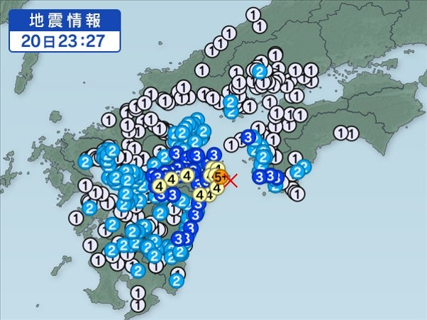改善前の地震画像