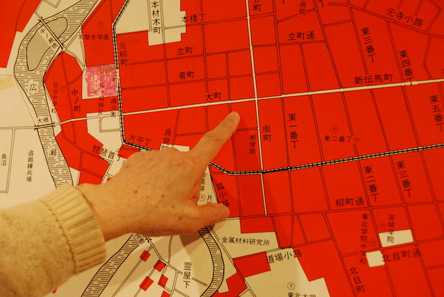 空襲で仙台中心部の大部分が焼けた=2017年4月
