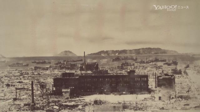 焼け野原になった福岡市内=1945年