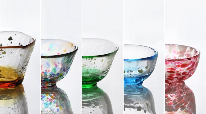 津軽の自然を詰め込んだ「五様ミニグラス」