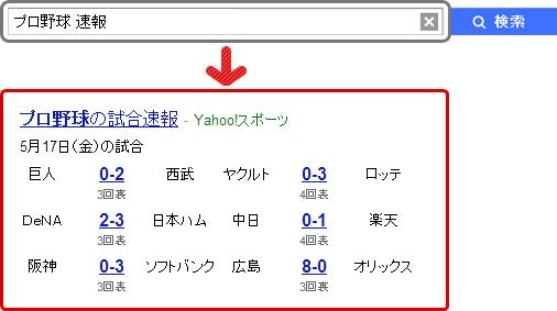 「プロ野球 速報」の検索結果